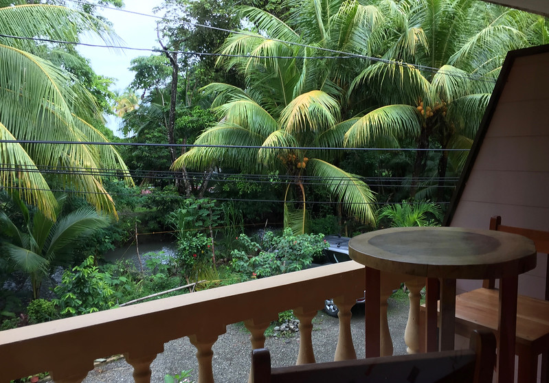 View from our second floor balcony.