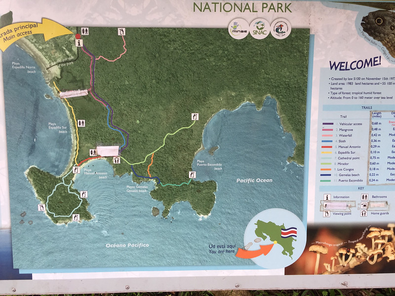 The trail map: We walked almost all of them during the 6 hours we spent in the park