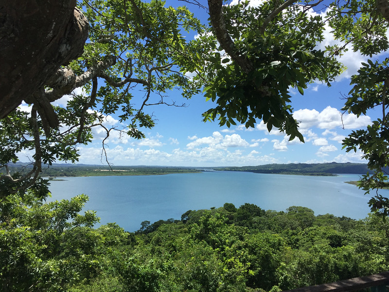 Lago Petén Itzá is 99 square km big