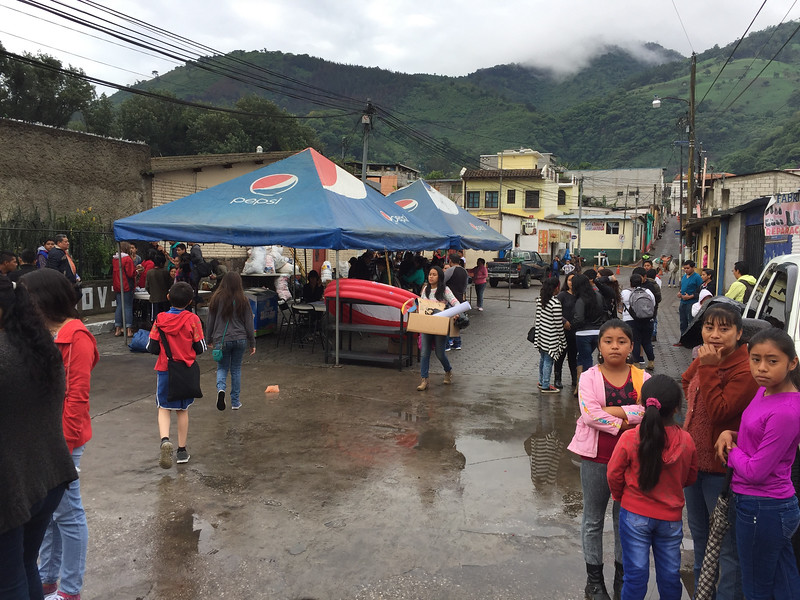 School Fund Raiser in Pastores: A grey day to start with, but the rain held off till later in the day.