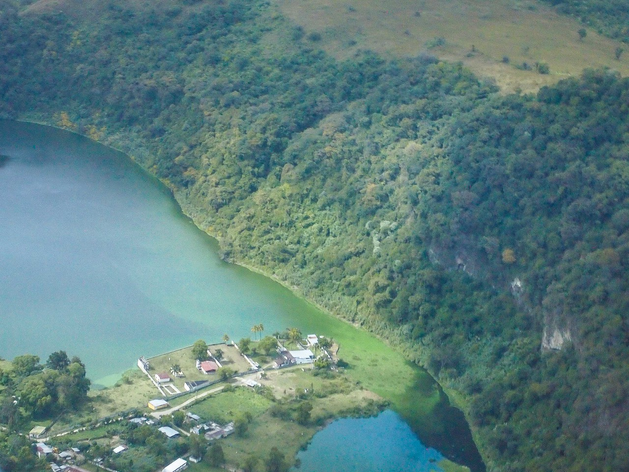 Lake Amatitlan near Guatemala City