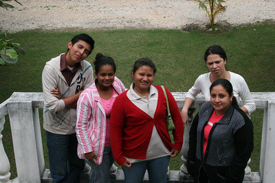 My new brothers and sisters.  Alex, Fivi, Susana, Pablova, and Celeste after lunch.