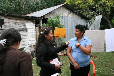 Susana and Celeste prayed with this woman to receive Christ as her Lord and savior.  She was in tears and thankful that we came to her home.  Susana said she would help her find a good Bible church to go to.