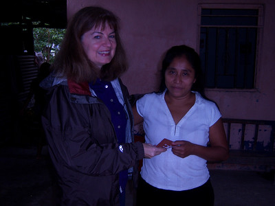 Cathy prayed with this woman to receive Christ as her Lord and Savior.