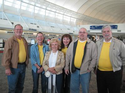 Left to right: Pastor Len Showalter, Beth Whisenant, Helen Adamec, Cathy Russi, Michael Bondanza, Pastor Randy Brown