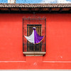 A window decorated for Holy Week in Antigua Guatemala