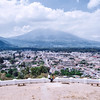 View on the city of Antigua Guatemala from the Hill of the Cross (Cerro de la Cruz).