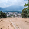 View on Antigua and Agua Volcano from the Hill of the Cross (Cerro de la Cruz), Guatemala