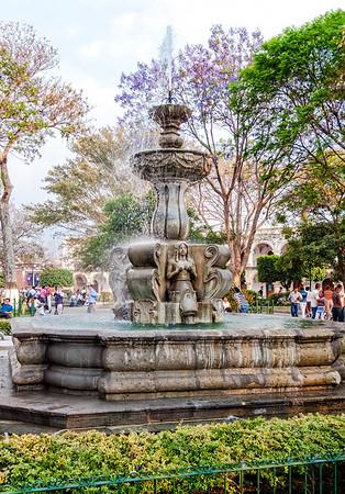 Central Park Fountain in Antigua, Guatemala