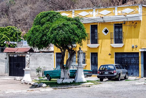 Yellow house in Antigua Guatemala.