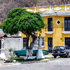 Yellow house in Antigua Guatemala.