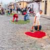 Semana Santa decoration in Antigua, Guatemala