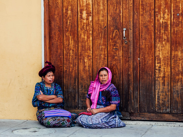 Two indigenous women from Antigua, Guatemala