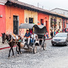 Horse carriage in Antigua