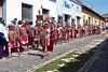 Roman soldiers at the Semana Santa procession through the streets of Antigua, Guatemala during Holy week.