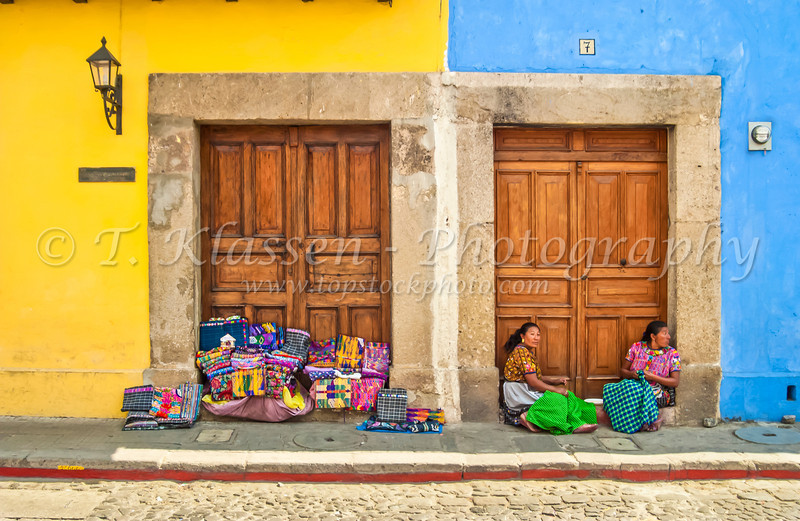 Mayan ladies of the region come to Antigua to sell their handcrafted items on the streets.