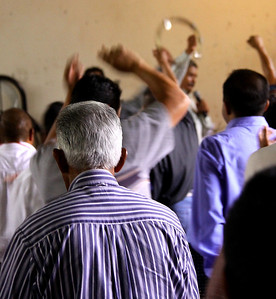 131 men in the chapel at The Holy Ghost Hospital, a rehabilitation unit for addicts of all kinds.  What a day of singing and teaching and praying.  These men can pray.  In fact they split up evenly in 12 groups and do intercessory pray for their mates and Cindy and I / Vine International's work have been added to their list - YEA!