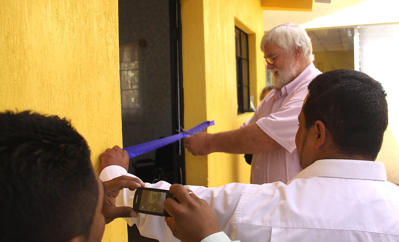 Ribbon cutting ceremony.  It is obvious a lot of work had been done recently.  Over 130 men looked on and cheered and then fed us.  We look forward to what God is going to do in the future on this land and in this building.