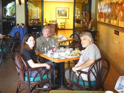 Old friends, the pretty one is Betty Wells, Mike on the far end and Woody Woodson my boss, partaking of the best breakfast buffet in Guatemala.  You have to go everyday for a week before you repeat a food item.