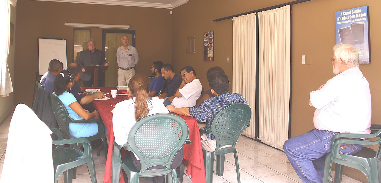 I got to chauffeur and here we are at Guatemala Bible Society in zone 9 speaking and encouraging the chaplains going into the youth prisons in the Guatemala City area.