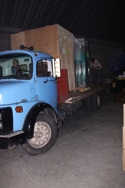 flat bed truck for delivery of large project to north Guatemala