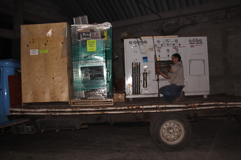 Out the door at 7:30 at night and most of the night drive for Ben and his helper.  Long day for me, but much longer for Ben.  We prayed mightily before he left.  In addition to the Scott Air Compressor there is a commercial kitchen for the hospital at Hospital Shalom in San Benito, Peten the largest and northern most state in Guatemala.