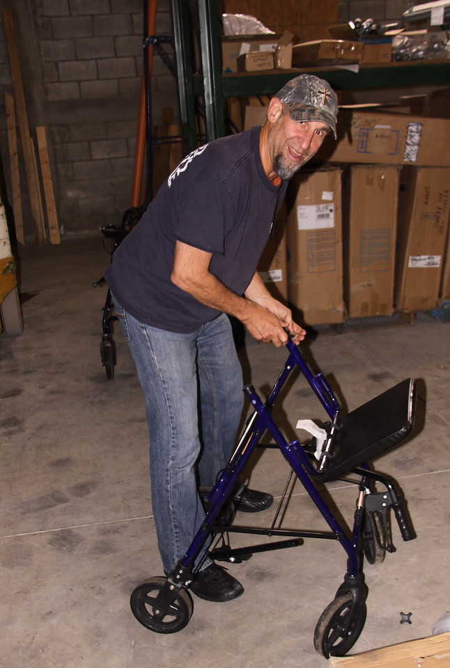 Dr. Lawrence Nelson did everything we asked and then some that day.  That is the kind of people we like to have.  He is assembling rolling walkers from Wheels of Hope in Ohio.