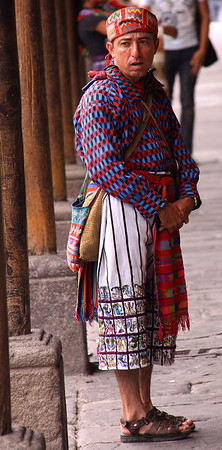 typical dress in some parts of Guatemala.  Do not make fun of Guatemalan men in skirts... they carry machetes and hoes that weigh 6 or 8 pounds.
