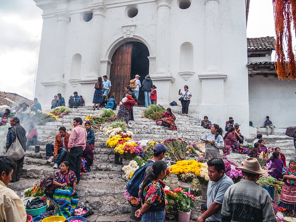 Vendors at the Chichicastenango Market in Guatemala