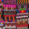 Fabrics at the Chichicastenango market, Guatemala