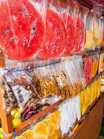 Street food cart in Guatemala