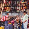 Masks vendor in the Chichicastenango market