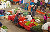 The indoor produce market in  Chichicastenango, Guatemala, Central America.