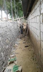 El Jurgallón School wall construction