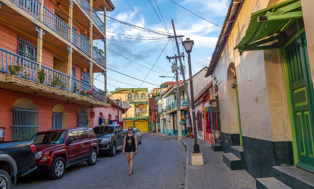 Wandering the streets of Flores, Peten, Guatemala