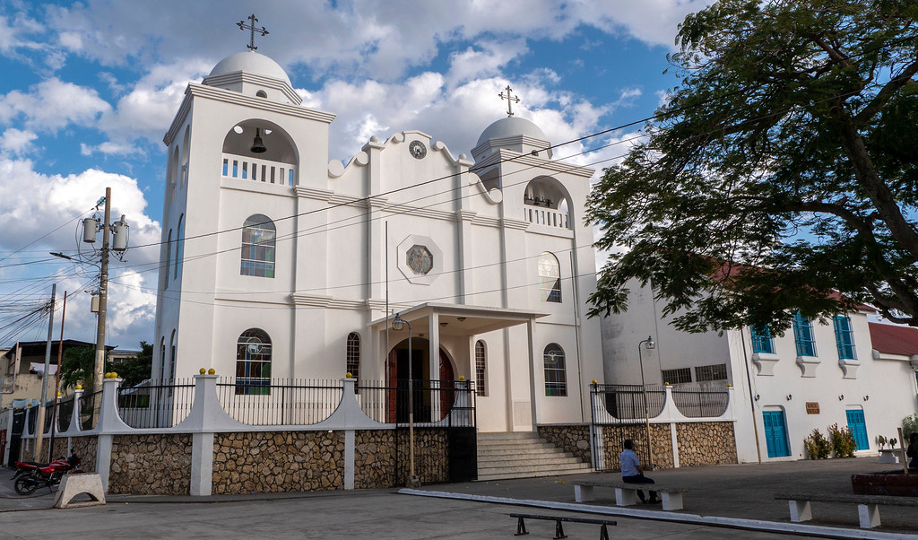 Flores Guatemala: White Cathedral in Flores