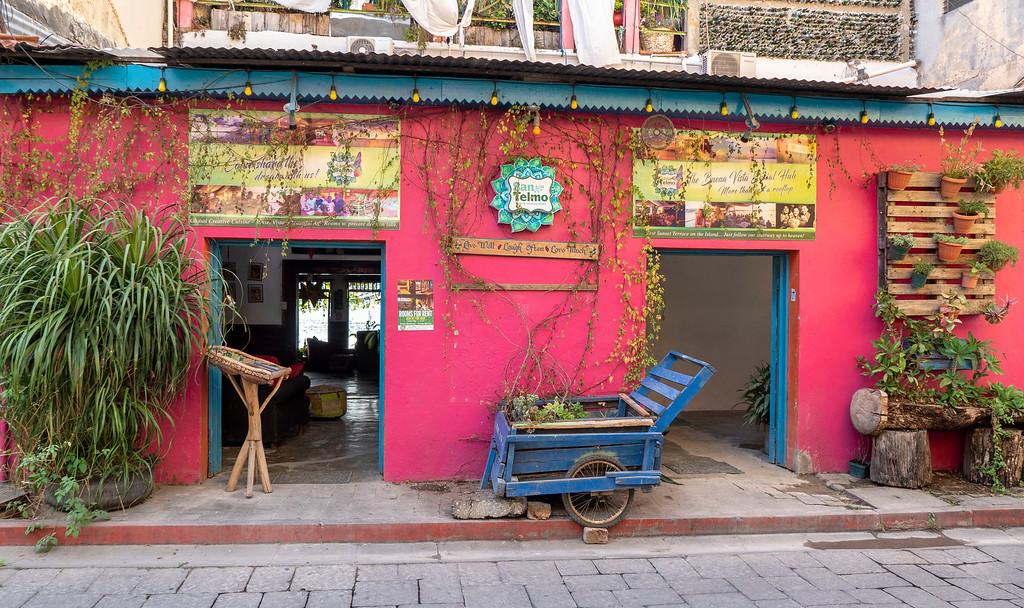 Flores Guatemala: San Telmo Patio for a Beer