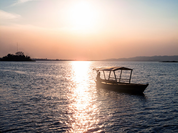 Sunset in Flores, Guatemala