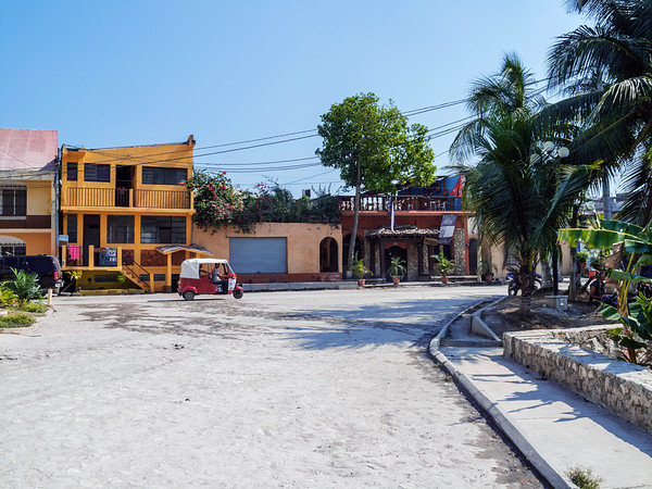 Street in Flores, Guatemala