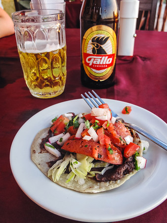 Food in Flores, Guatemala
