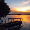 Sunset in Isla de Flores, Guatemala