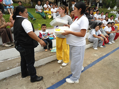 There are four pregnant ladies in the prison as well.  They were blessed with gift bags for the little ones to come again by El Barrios for Christ.