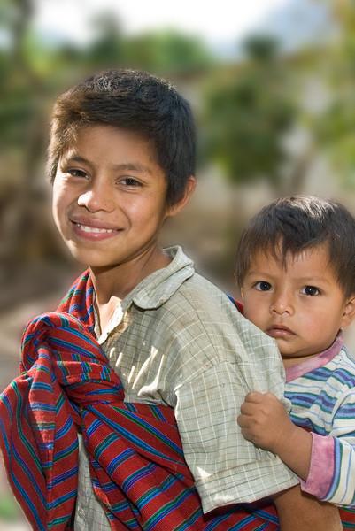 Mayan Boy and his Brother, Tzununa, Guatemala 2008