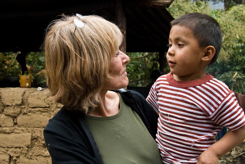 Sandy and Guatemalan boy