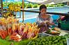A local street fruit market in Guatemala, city, Guatemala, Central America.