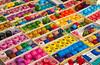 Closeup of colorful balls of yarn at the Comalapa market, Guatemala, Central America.