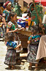 The local market with children in the village of Santa Maria de Jesus in Guatemala.