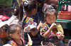 The local market with children in the village of Santa Maria de Jesus in Guatemala.