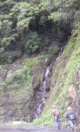 One of many waterfalls in this mountainous region