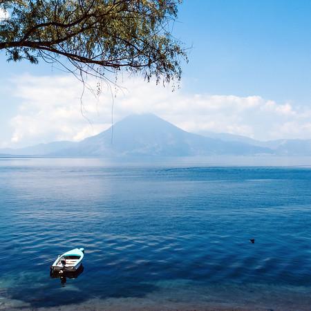 Lake Atitlan and a surrounding volcano, Guatemala